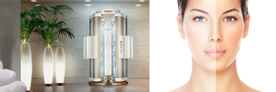 DOCCIA ABBRONZANTE MAGIC SHOWER PLUS 6 COLONNE PER SOLARIUM