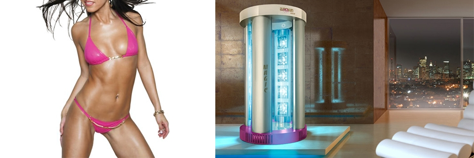 DOCCIA ABBRONZANTE MAGIC SHOWER PLUS 4 COLONNE PER SOLARIUM